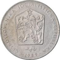 Monnaie, Tchécoslovaquie, 2 Koruny, 1989, TTB, Copper-nickel, KM:75 - Czechoslovakia