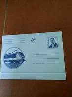 Gele Briefkaart Belgische Spoorwegen 17 Frank - Postcards [1951-..]
