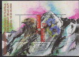 2003 Schweiz Mi. Bl 33 FD-used  Trilaterale Briefmarkenausstellung TICINO '03, Locarno - Usados