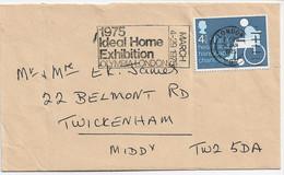 3561  Carta London 1975, Ideal Home Exhibition Olympia London - 1952-.... (Elisabetta II)