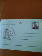 Gele Briefkaart Lucky Luke 50 Jaar 16 Frank - Postcards [1951-..]