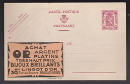 Publibel N°647  Au Lingot D'or - Werbepostkarten