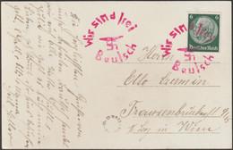Sudètes, République Tchèque. Bautsch, Budišov Nad Budišovkou. Oblitération Nazie. Wir Sind Frei - Covers & Documents