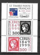 Année 1999 : Y. & T. N° 3211 ** Et 3212 ** Avec Vignette - Francia