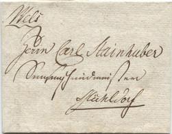 Österreich Botenbrief Mit Inhalt Von Wels Nach Micheldorf 15.12.1804 - Österreich