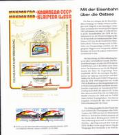 "DDR GDR RDA - Erinnerungsblatt ""Aufnahme Fahrverbindung Mukran - Klaipede"" (MiNr: WZd 692) - Covers & Documents"
