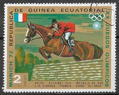 Equatorial Guinea 1972. Scott #72147 (U) J-P D'oriola And ''Ali Baba'' (FRA), Helsink1 1952, Gold Medal - Equatorial Guinea