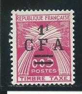 REUNION CFA: *, TAXE N° YT 45, 1 ère Ch. Trés Légère, TB - Segnatasse