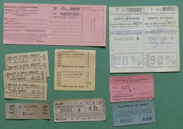 Chemins De Fer, Tramway Nancy Et Tunisie, SNCF - Petit Lot De Tickets Et Permis - Season Ticket
