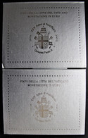 Lot De 2 Coffrets Vatican 2003 Qualité BU  Contenant Les 8 Pièces De 1 Centime à 2 Euros à L'effigie De Jean Paul II - Vatican