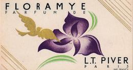 Carte Parfumée FLORAMYE   Parfum De L.T. PIVER  Paris - Parfumkaarten