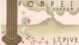 Carte Parfumée  POMPETA   Parfum De L.T. PIVER  Paris - Oud (tot 1960)
