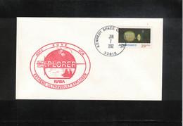 USA 1992 Space / Raumfahrt Satellite Explorer Interesting Letter - Etats-Unis