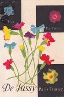 Carte Parfumée  Les  Parfums  De JUSSY  Paris - Oud (tot 1960)
