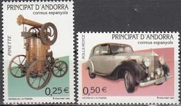 Andorra (Spanish Post) 2002, History Of Vehicle Construction, MNH Stamps Set - Ongebruikt