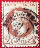 """Numéro 26B Oblitéré, Pas D""""aminci, Cachet Boulogne-sur-Mer - 1863-1870 Napoleon III Gelauwerd"""