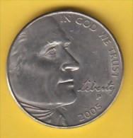 """USA - 2005 Circulating 5¢ Coin """"Buffalo"""" - 1938-…: Jefferson"""