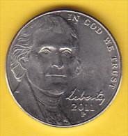 USA - 2011 Circulating 5¢ Coin  (*) - 1938-…: Jefferson