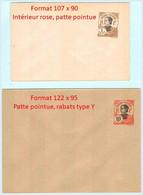 Entier INDOCHINE - Enveloppes Neuf ** - Annamite 1c Brun-olive (TP 41) Et 10c Rouge (TP 45) Annamite - Briefe U. Dokumente