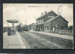 CPA - GAMACHES - Lare, Vue Intérieure, Animé - Trains En Gare - Otros Municipios