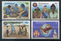 Simbabwe Zimbabwe Mi# 364-7 Postfrisch/MNH - Girl Guides - Zimbabwe (1980-...)