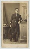 CDV Militaire 1869 Baudon à Montpellier. Dédicace. Cavalerie. - Old (before 1900)