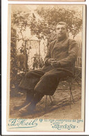 P 051 - PHOTO CDV - MILITARIA - MAYENNE - A. Heil - Soldat - Guerra, Militari