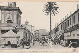 N°6853 R -cpa Bone -rue Bugeaud Et Le Marché Arabe- - Altre Città
