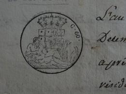 1820 Papier Timbré De SARDES De 60 Centesimi Bonneville (Haute-Savoie) 3 Feuilles - Seals Of Generality