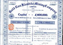 GOLD RUN (Klondike) MINING COMPANY, Limited - Mijnen
