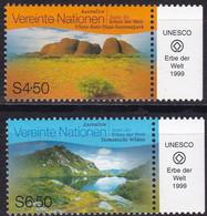 UNO-Wien, 1999, 279/80,  MNH **,  UNESCO-Welterbe: Australien. - Ongebruikt