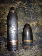 Vickers 2-pdr QF Shell #obus,ww1,ww2,grenade,mills,37mm,75mm,US - Armas De Colección