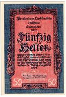 LIECHENSTEIN , 50 HELLER 1920 , P-3 , UNC - Liechtenstein