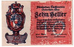 LIECHENSTEIN , 10 HELLER 1920 , P-1 , UNC - Liechtenstein