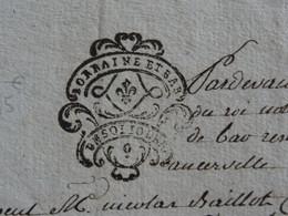1780 Généralité De LORRAINE ET BAR (Barrois) Papier Timbré De UN SOL 10 DEN. - Gebührenstempel, Impoststempel