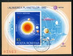 ROMANIA 1981 Planetary Conjuctions Block Used .  Michel Block 182 - Usati