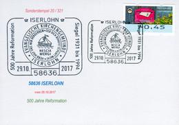 83401) BRD - Karte - SoST 58636 ISERLOHN Vom 29.10.2017 - 500 Jahre Reformation - Marcofilie - EMA (Printmachine)