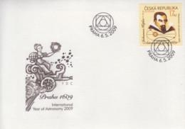 Enveloppe  FDC  1er  Jour   TCHEQUIE    Année  Internationale  De  L' Astronomie  :  KEPLER     EUROPA    2009 - Europa-CEPT
