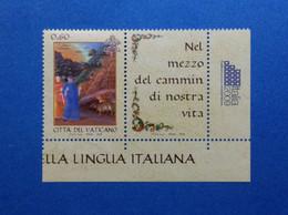 2009 VATICANO FRANCOBOLLO NUOVO STAMP NEW MNH** Giornata Della Lingua Italiana Dante Divina Commedia - Unused Stamps