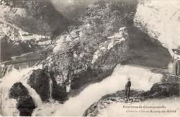 CPA 39 Environs De CHAMPAGNOLE  Chute De L'Ain Au Bourg De SIROD 1911 (avec Personnages Devant) - Champagnole
