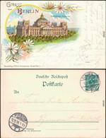 Ansichtskarte Berlin Kamillen - Litho: Reichstag 1898  - Germany