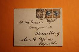 LETTER FROM DUNEDIN VIA BLUFF,JOHANNESBURG TO HEIDELBERG SOUTH AFRICAN REPUBLIC,1898. - Briefe U. Dokumente