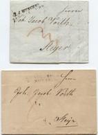 2 Österreich Briefe Mit Inhalt München 1809 Augsburg 1818 Nach Steyr - Österreich