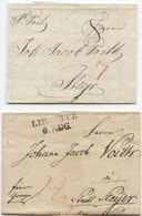 2 Österreich Briefe Mit Inhalt St. Veit 1813 Liegnitz 1823 Nach Steyr - Österreich