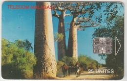 MADAGASCAR - Baobabs ,25 U, Tirage 900.000, Used - Madagascar