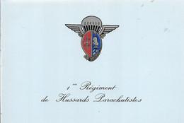 CPA°-DOUBLE-1970-1e Régiment De Hussards Parachutistes-Non Ecrite-TBE - Regimientos