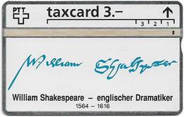 Switzerland - Swisscom (L&G) - K Series - K-93/9F - William Shakespeare 1564-1616 - 305L - 05.1993, 3Fr, 2.500ex, Used - Schweiz