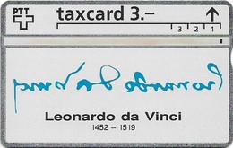 Switzerland - Swisscom (L&G) - K Series - K-93/9J - Leonardo Da Vinci 1452-1519 - 306L - 06.1993, 3Fr, 2.500ex, Used - Schweiz