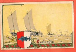 ZCD-36 Litho Avec Armoiries De Cudrefin Broye-Vully  Cachets Cudrefin Et Lutry 1900 Pli Angle - VD Vaud