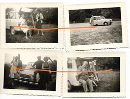 Renault 4L - Lot De 4 Photos 9x6 - Coches